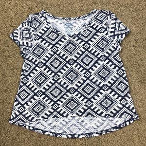 Old Navy BohoHi-lo Navy White Tee Shirt Size 5T